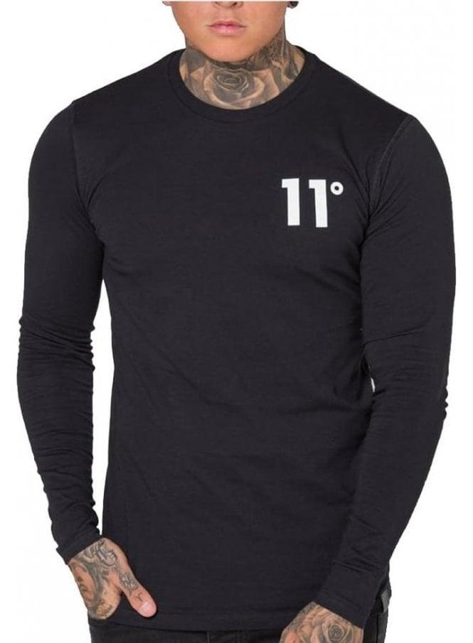 ELEVEN DEGREES Core Long Sleeved Tshirt Black
