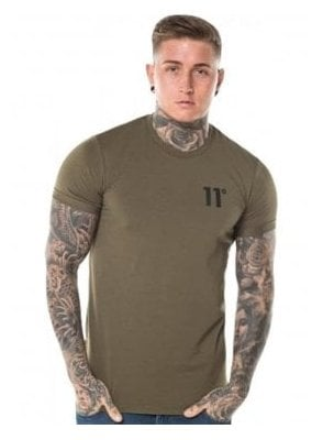 Core Muscle Fit Tee Shirt Khaki