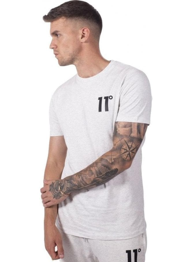 ELEVEN DEGREES Core T-Shirt Snow Marl