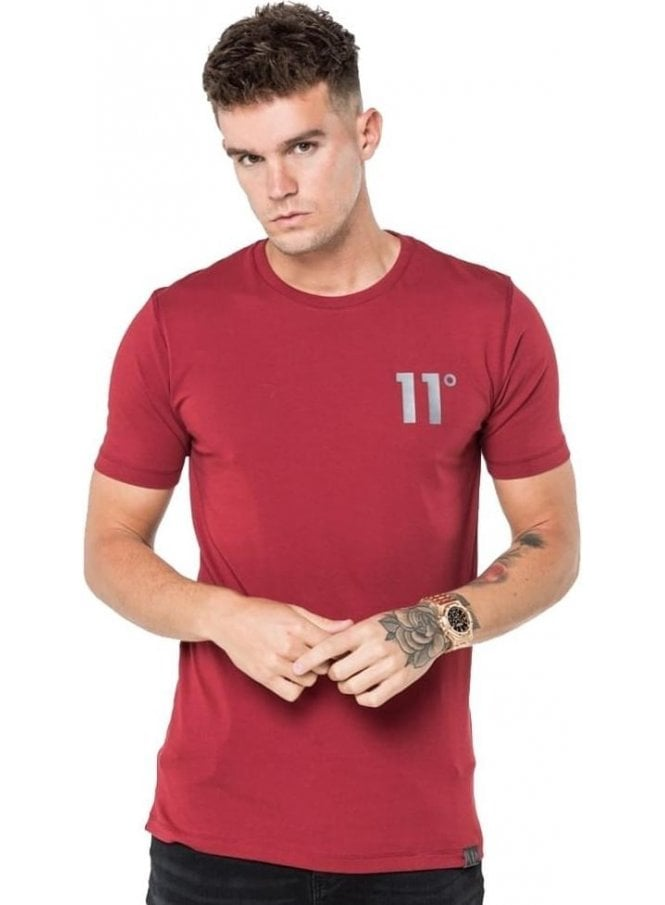 ELEVEN DEGREES Core Tee Shirt Burnt Red