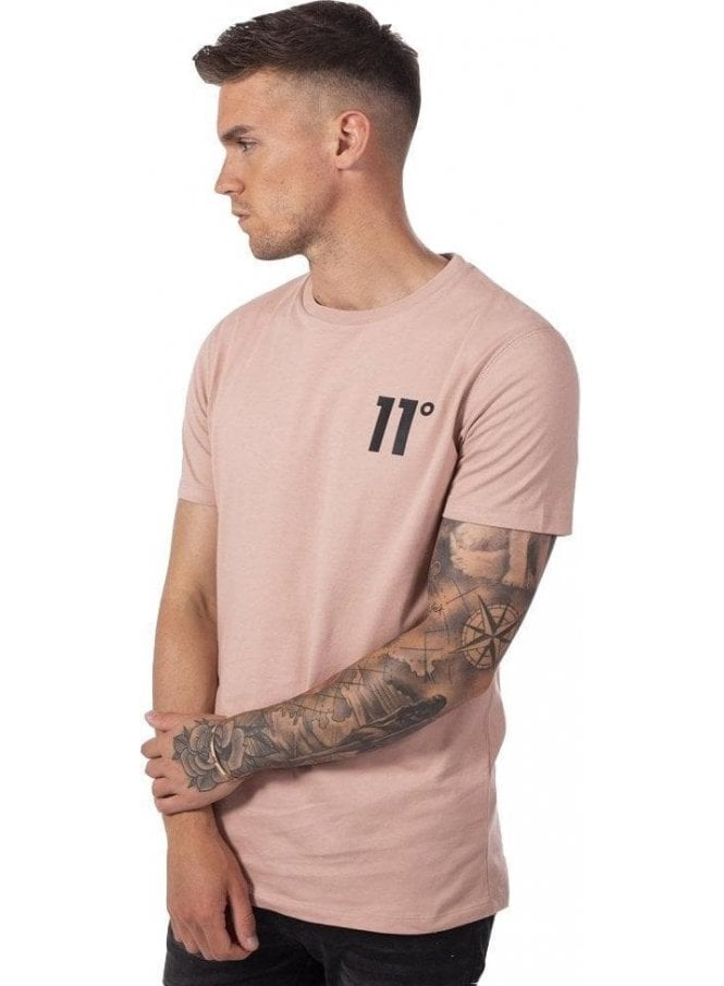ELEVEN DEGREES Core Tee Shirt Misty Rose