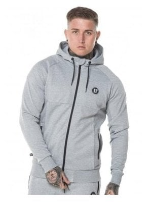 Full Zip Hoodie Light Grey