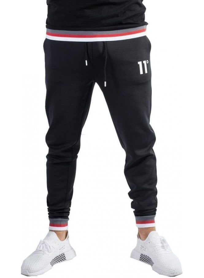 ELEVEN DEGREES Poly Tricot Jogger Black