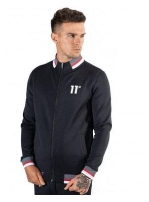 Poly Tricot Zip Jacket Black