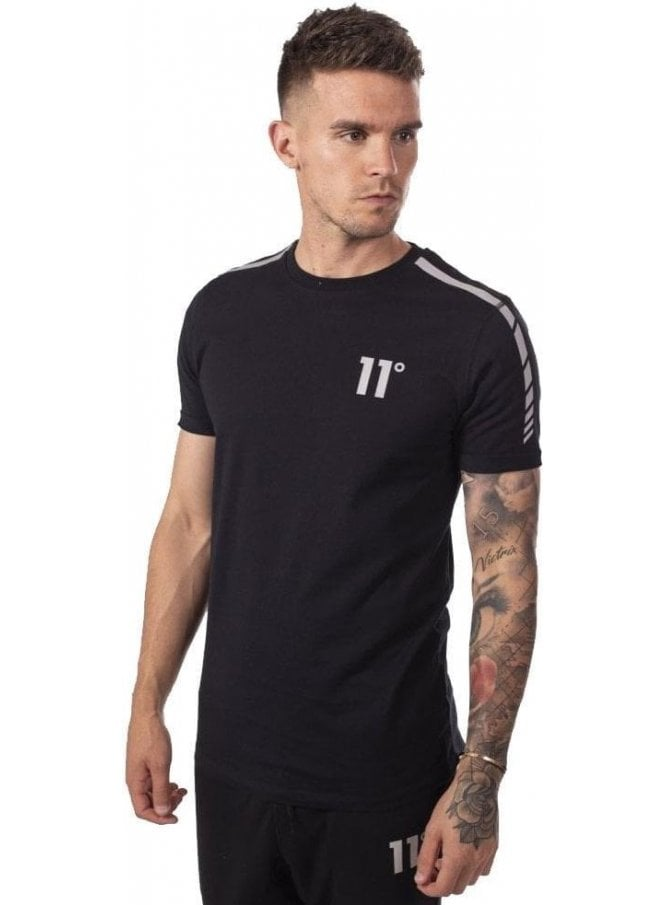 ELEVEN DEGREES Reflective T-Shirt Black