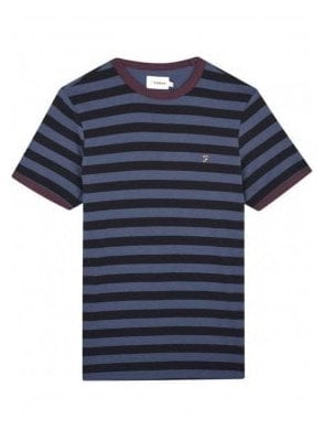 Belgrove Stripe Short Sleeve T-Shirt Bobby Blue