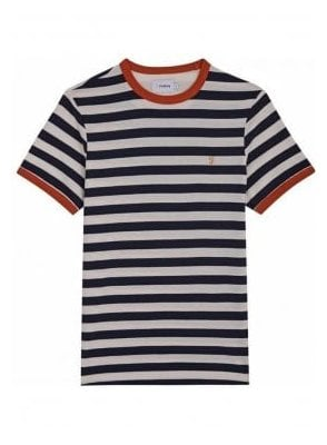 Belgrove Stripe Short Sleeve T-Shirt True Navy
