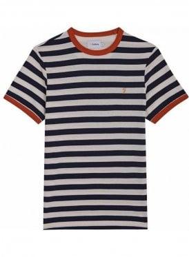 Belgrove Stripe Short Sleeve T-Shirt True Navy