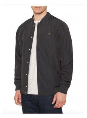 Bellinger Bomber Rib Collar Jacket Black