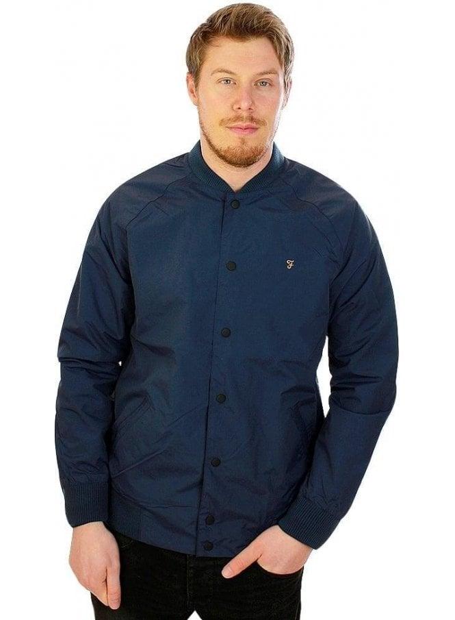 FARAH VINTAGE Bellinger Bomber Rib Collar Jacket Ink Blue