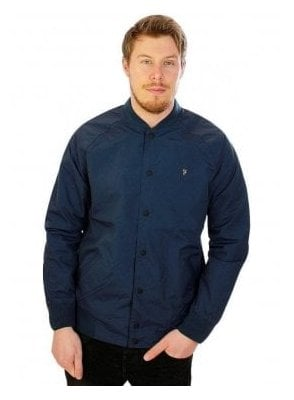 Bellinger Bomber Rib Collar Jacket Ink Blue