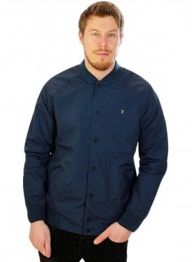 Bellinger Bomber Rib Collar Jacket Ink Blue