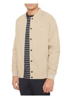 Bellinger Bomber Rib Collar Jacket Light Sand