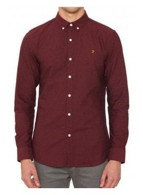Brewer Long Sleeved Shirt Bordeaux