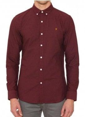 Brewer Long Sleeved Shirt Bordeaux