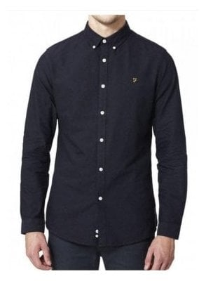 Brewer Long Sleeved Shirt Navy