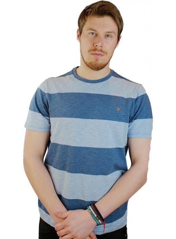 FARAH VINTAGE Burton S/s Tshirt Dusky Blue Marl