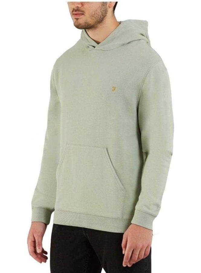 FARAH VINTAGE Clerkenwell Garment Washed Hoodie Green Balsam
