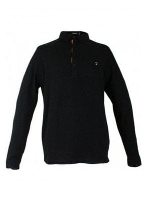 Dlacey Long Sleeve Pique Polo Black