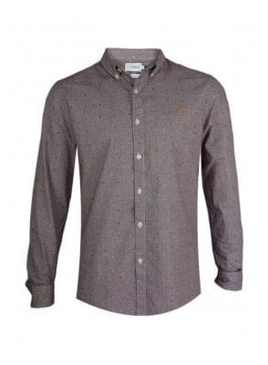 Garrison Slim Long Sleeve Gingham Check Prin 507