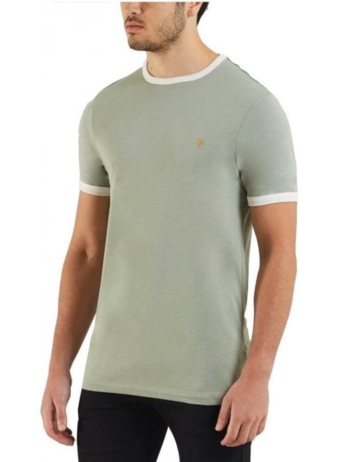 FARAH VINTAGE Groves Ringer S/s Tshirt Green Balsam
