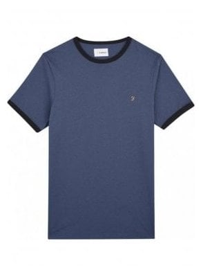 Groves Ringer Short Sleeve T-Shirt Bobby Blue