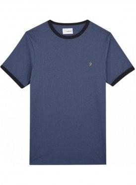 Groves Ringer Short Sleeve T-Shirt Bobby Blue