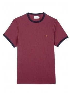 Groves Ringer Short Sleeve T-Shirt Farah Red