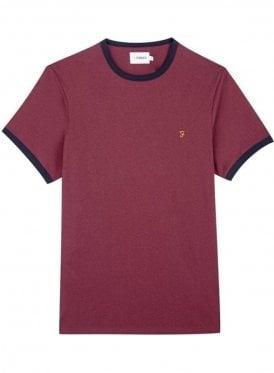 Groves Ringer Short Sleeve T-Shirt Farah Red