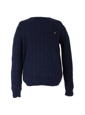 Kirtley Cable Knit Sweater Navy