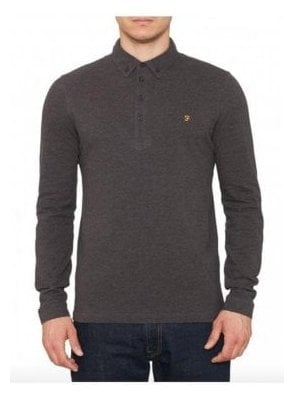 Merriweather Long Sleeved Polo Coal