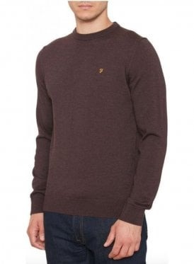 Mullen Wool Crew Sweater Bordeaux