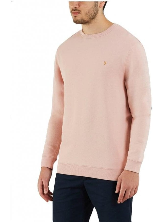 FARAH VINTAGE Pickwell Garment Washed Sweater Jumper Rose