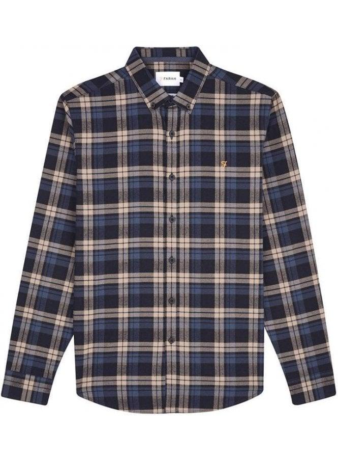 FARAH VINTAGE Radley Long Sleeve Check Shirt Canvas