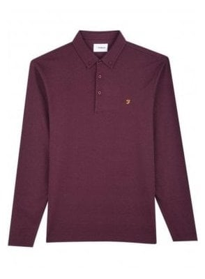 Stapleton Long Sleeve Polo Farah Red