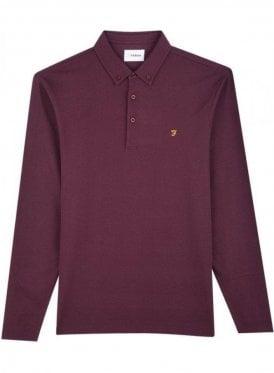 Stapleton Long Sleeve Polo Farah Red