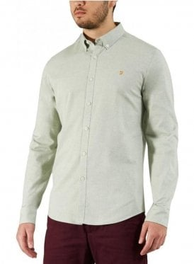 Steen Slim Long Sleeve Shirt Green Balsam