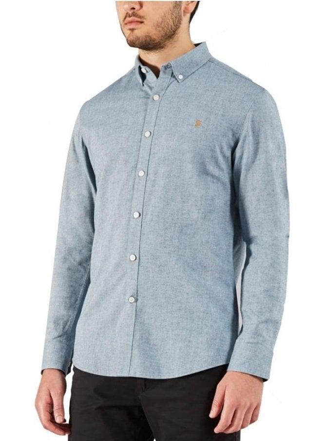 FARAH VINTAGE Steen Slim Long Sleeve Shirt Stellar