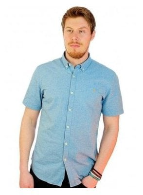 Steen Slim S/s Chambray Shirt Sierra Blue