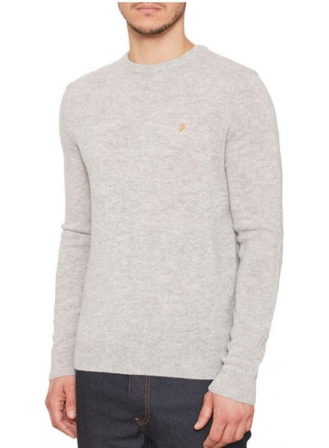 FARAH VINTAGE The Rosecroft Long Sleeved Crew Neck Jumper Moon Rock
