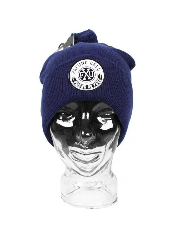 FRIEND OR FAUX Beanie Ski Hat Navy