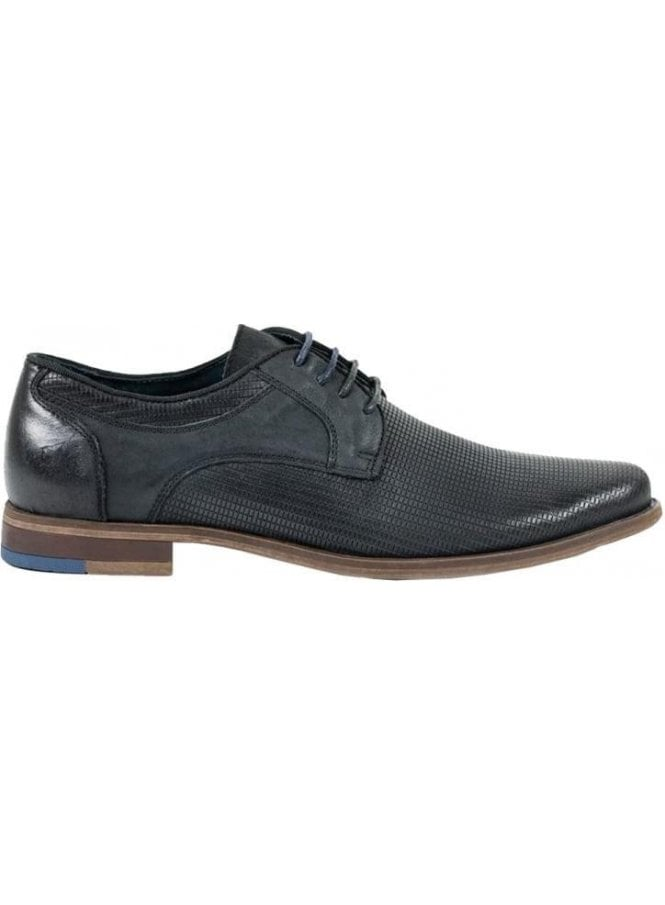 FRONT Oxford Lace Up Patterned Shoe Black
