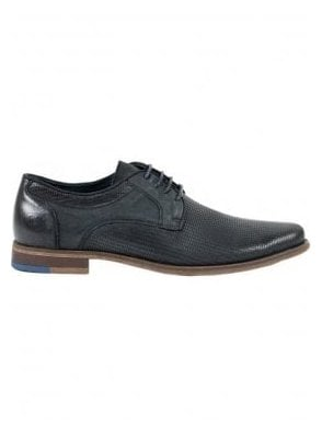 Oxford Lace Up Patterned Shoe Black