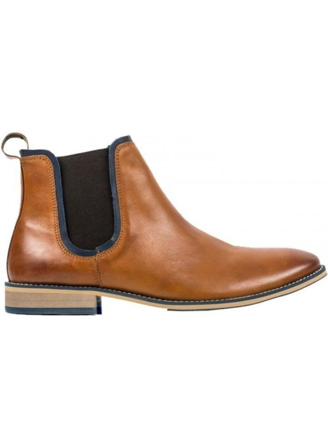 FRONT Stanford Chelsea Leather Boot Tan