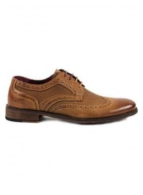 Tan Brogue Style Shoe Tan