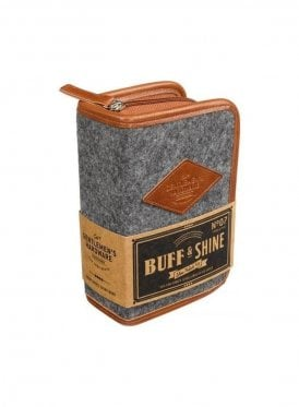 Buff And Shine Shoe Polish Kit Grey Marl