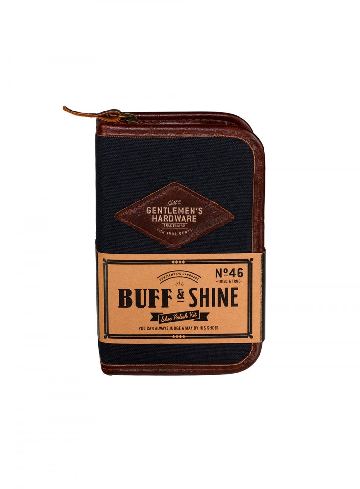 Brown Leather Shoe Shine Kit