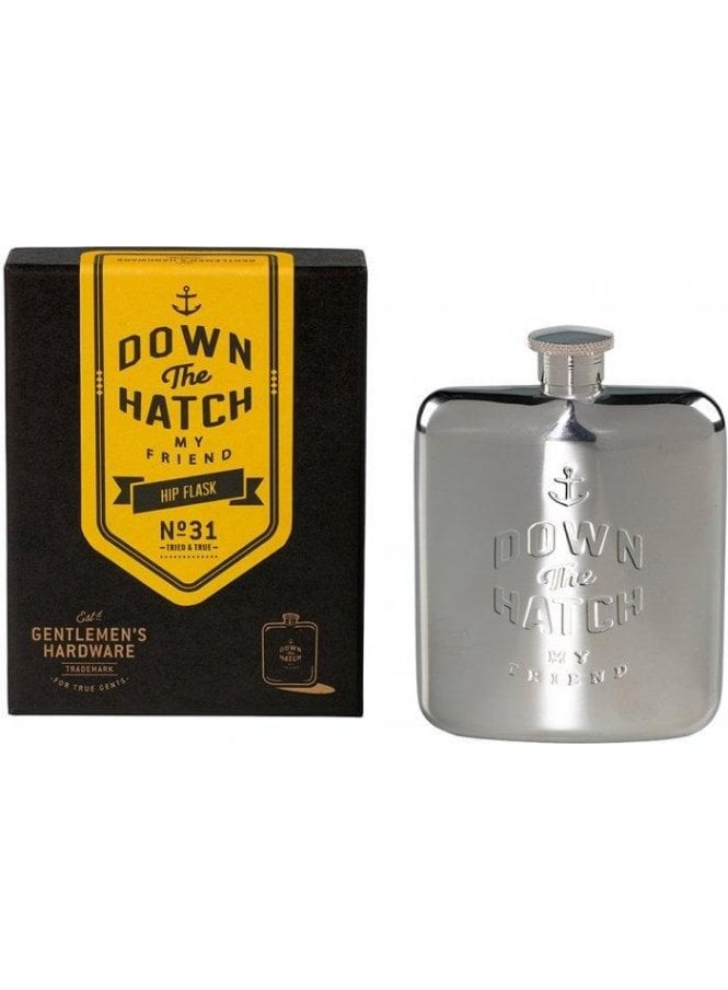 GENTLEMENS HARDWARE Down The Hatch My Friend 6oz H Stainless Steel