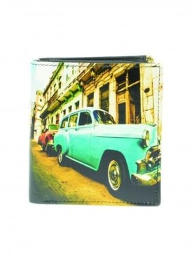 Cuban Car Gents Notecase Wallet Turquoise