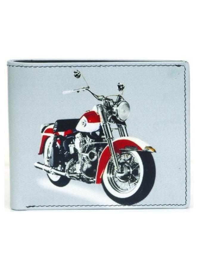 GOLUNSKI Gents Motorbike Wallet White
